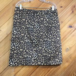 East 5th Leopard Straight Skirt size 16P EUC